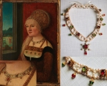 Painting by Bernhard Strigel, early 16th century, Germany. Necklace by me.