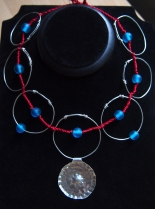 My interpretation  of the Anglo Saxon wire ring necklace, read about it below.